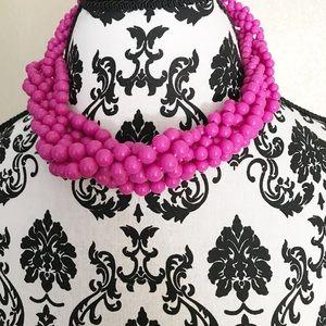 Jewelry - Fuschia Beaded Necklace